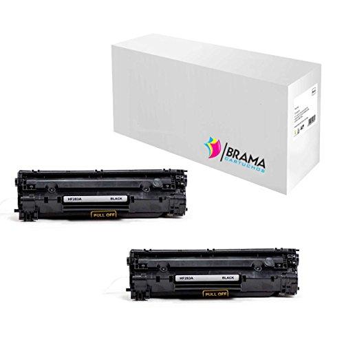 Bramacartuchos - 2 X Cartuchos compatibles Non oem para Hp 83A CF283A de,HP LaserJet PRO MFP M125nw,