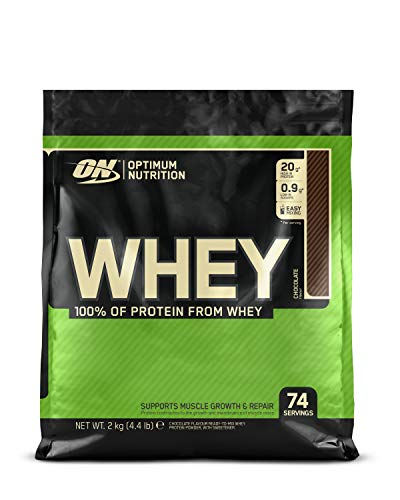 Optimum Nutrition ON Whey Protein Pulver. Zuckerarmes Eiweisspulver von ON -  Chocolate, 74 Portionen, 2kg -
