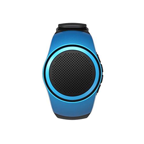 JSGJYX Bluetooth Lautsprecher 1 PSC Portable B20 Musik Watch Bluetooth Mini Watch Bluetooth 2.1+EDR Sport Lautsprecher TF-Karte FM Audio Radio Lautsprecher für iPhone 7