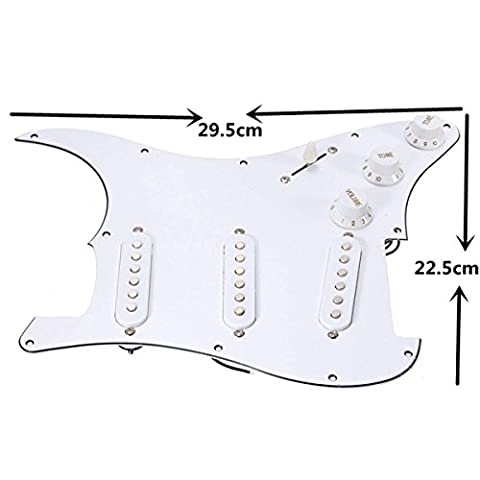 Generic NV _ 1001005582-efuk28 _ 2187 < 1 & 5582 * 1 > R Replacementd Pearl F Pearl pour précâblé Loaded Guitare Fender Stratocaster 3 _ plis Pickguard Guitare Remplacement précâblé Charge