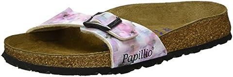 Papillio Damen Madrid Birko-Flor Softfootbed Pantoletten, Mehrfarbig (Pixel Rose Soft), 41 EU