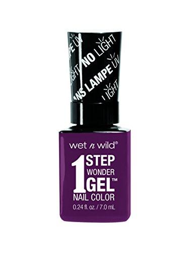 Wet n Wild - 1 Step Wonder Gel Nail Color - mit Licht-gehärteter Formel in 16 verschiedenen Farbtönen, Under My Plum, 1 Stk. 40g -