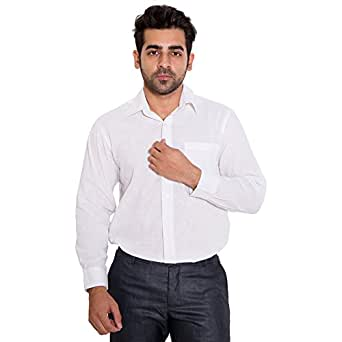 Wardtrobe 100% Cotton Men's Regular fit Formal Shirt (Size:44)