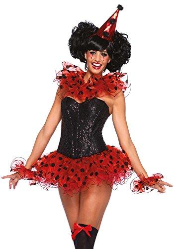 Leg Avenue Kit Clown Costume Pour Femme Noir/Rouge Taille Unique