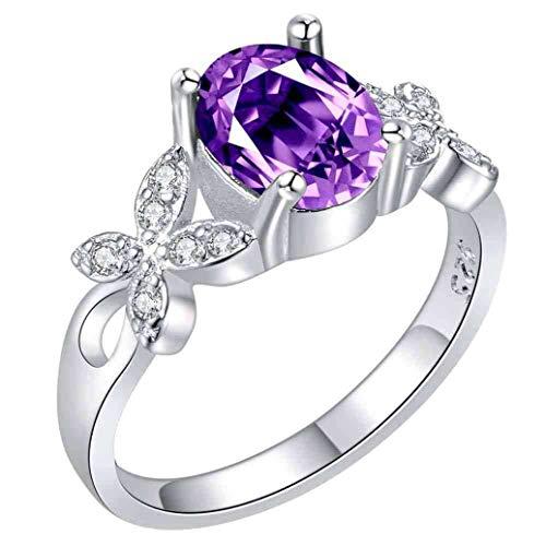 Makwes 1 STÜCKE Ring Kreative Schmetterling Zirkon Ring Europäischen und Amerikanischen Silber Überzogene Silberschmuck ,Frau ,Damenschmuck, Geburtstagsgeschenke -