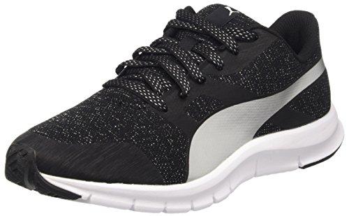 Puma Flexracer Gleam Wns, Sneaker Donna, Nero/Argento, 37