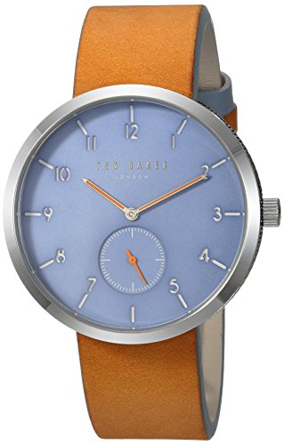Ted Baker Men's 'JOSH' Quartz Stainless Steel and Leather Casual Watch, Color Brown (Model: TE50011004)