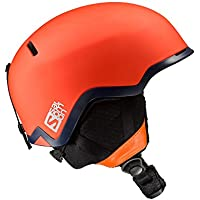 Salomon Casco de esquí y snowboard para snowpark para hombre, Interior de espuma EPS 4D, Talla M, Circunferencia 56-59 cm, HACKER, Naranja, L39042200