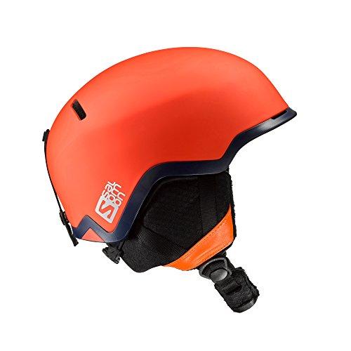 Salomon, Homme Casque de Ski et Snowboard pour Snowpark, Intérieur en mousse EPS 4D, Taille S, Circonférence 53-56 cm, HACKER, Orange, L39042200