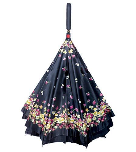 Sun Umbrella Inverted Reversible No Drip Umbrella(Multicolour)