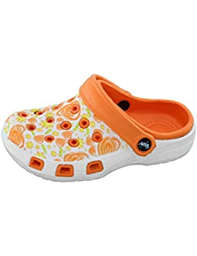 Kinder Clogs Hausschuh Jungen Mädchen Schuhe Pantolette mit rutschfester Sohle