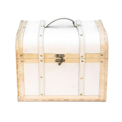Truhe, Holzbox, Holztruhe, Schatztruhe, weiss