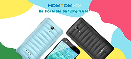 HOMTOM HT26 - 4 5 pulgadas 4G Smartphone Android 7 0 MTK6737 Quad Core 1 3GHz 1GB de RAM 8GB ROM 8 0MP c mara - Negro