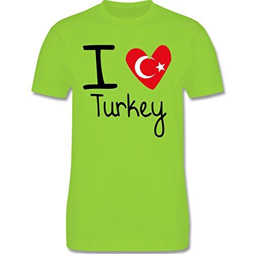 I love - I love Turkey - Herren Premium T-Shirt Hellgrün
