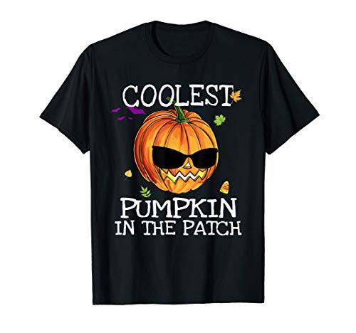 Kinder coolsten Kürbis im Patch Halloween Kostüm Boys T-Shirt (Little Boy 50's Kostüm)