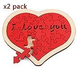 VPlus 2 Stück Liebe Herz Muster 3D Puzzle Set Kinder Entwicklung und Bildung Spielzeug Puzzles Geschenk für Kinder und Liebhaber