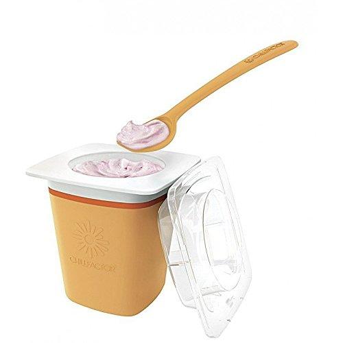 Chillfactor Joghurtbereiter, für Frozen Yogurt, Orange