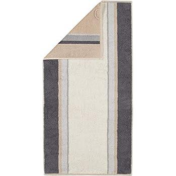 Baie Caw/ö 967 Serviette de Toilette Motif Rayures Coton Serviette de Bain 70 x 140 cm