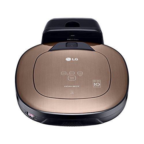 LG Electronics VRD 830 MGPCM Total Care Roboter-Staubsauger (Raumerkennung durch Dual-Kamera System, 4 Reinigungsmodi, inkl. Wischmopp und Teppich- und Tierhaarbürste) metal gold - 9