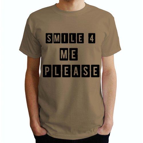 Smile 4 me Please Herren T-Shirt Beige