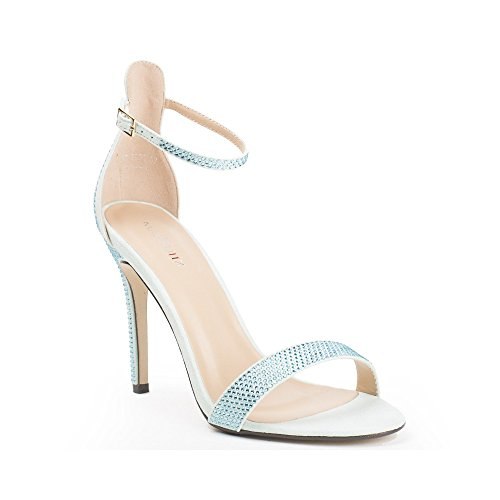 Ideal Shoes, Damen Sandalen Himmelblau