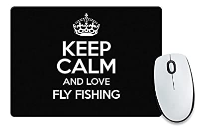 BLACK Keep Calm and Love Fly Fishing Mouse Mat COLOUR 1195 from Duke Gifts