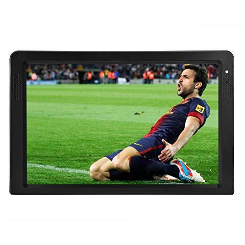 12,1-Zoll Tragbarer DVB-T Fernseher, TFT LED Farbfernsehbildschirm HDMI 1080P Video Digital-TV Wiederaufladbarer HD Tragbarer Digitaler TV-Player Analog-TV ATV für Auto, Küche, Schlafzimmer