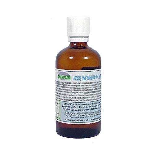 CHIANTASAN ätherische Kräuteröl-Mischung - 50ml Flasche | früher: Dr. M. Grubel Destillat, ein Körperpflege-Produkt mit natürlichen, ätherischen Ölen aus Eukalyptus, Pfefferminze, Rosmarin und Thymian - PZN: 11592995