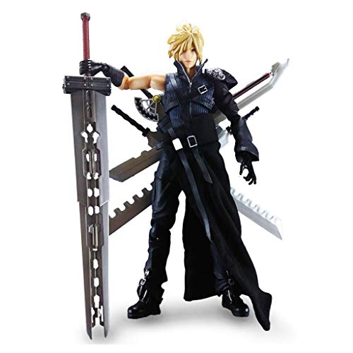 Siyushop Play Arts Kai Cloud Strife Final Fantasy: Action Figure Of Advent Children - Equipped With A Variety Of Accessories For Weapons - High 27CM
