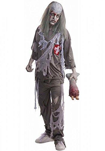 Zombie Doktor Kostüm für Herren - Gr. L (The Walking Dead Walker Kostüm)