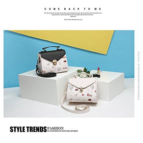 Yoome Medium Crossbody Handtaschen für Frauen Top Handle Tote Cute Cartoon Taschen Damen Geldbörse Geldbörse - Schwarz Rot