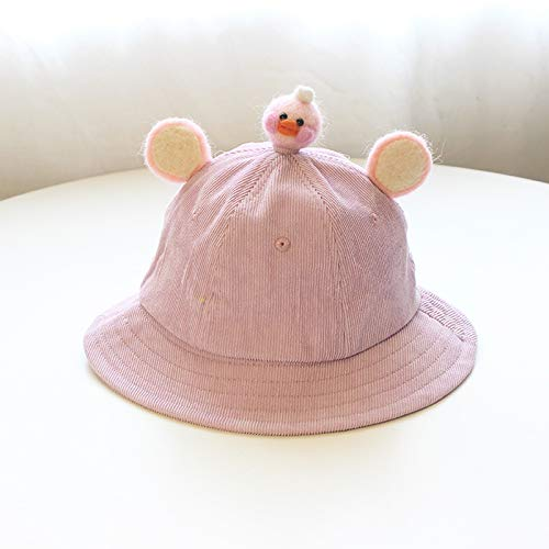 ChildHat 2018 Hut für Kinder,Babymütze weiche Schwester kleine gelbe Mütze frische Babymütze Ohren Eltern-Kind-Mütze DIY Cord Kinder, Entlein lila, M Erwachsene (57 cm)