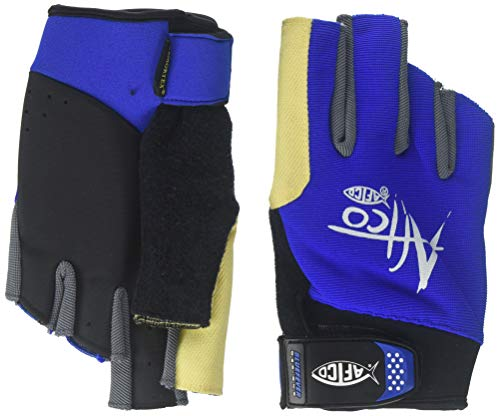 AFTCO Fishing Gloves GLOVESPLRXLBLUE Short Pumplong Range Fishing Gloves X-Large
