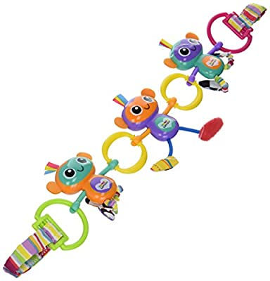 Lamaze Monkey Links Clip On Pram and Pushchair Baby Toy