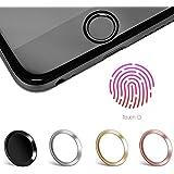 Touch ID Sticker in Schwarz mit Fingerabdruckfunktion für iPhone 6 / 6S / 7 - moodie Home Button Aufkleber - passende Ergänzung zu Panzerglas (bildet ein Höhenlevel)