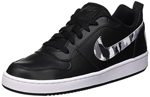 Nike Court Borough Low (GS), Scarpe da Ginnastica Basse Bambino, Nero (Black/Multi-Color-Pure Platinum 005), 39 EU