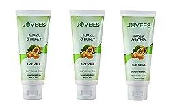 Jovees Papaya & Honey Facial Scrub 50 G (Pack of 3)