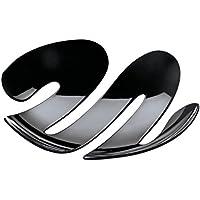 Koziol EVE - Bandeja/centro de mesa, color negro sólido
