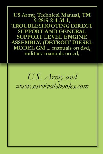 U.S. Army and www.survivalebooks.com - US Army, Technical Manual, TM 9-2815-214-34-1, TROUBLESHOOTING DIRECT SUPPORT AND GENERAL SUPPORT LEVEL ENGINE ASSEMBLY, (DETROIT DIESEL MODEL GM 3-53), ... military manuals on cd,