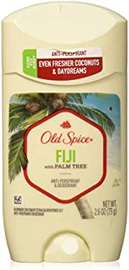 Old Spice Old Spice Fresh Collection Anti-perspirant & Deodorant Invisible Solid, Fiji, 2.6 Oz, 2.