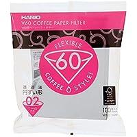ICO HARFIL100 Hario Papierfilter/Filtertüten Misarashi, mittel für V60-02, 100 Stück, weiß, 53.3 x 35.6 x 61 cm
