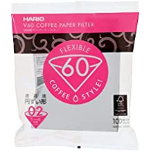 Hario Count Coffee Paper Filter,Pack of 100,White