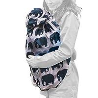BundleBean Babywearing Lightweight raincover (Grey Elephant)