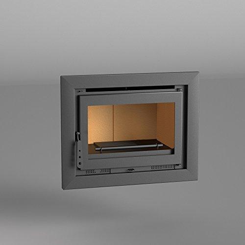 Chimenea Insertable leña 70 cm. Mod. I-170. Interior Vermiculita y Marco 4...