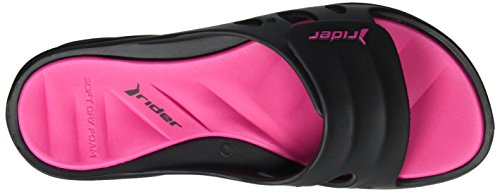 Rider Rider Key Ix Fem, Sandales  Bout ouvert femme Mehrfarbig (black/pink)