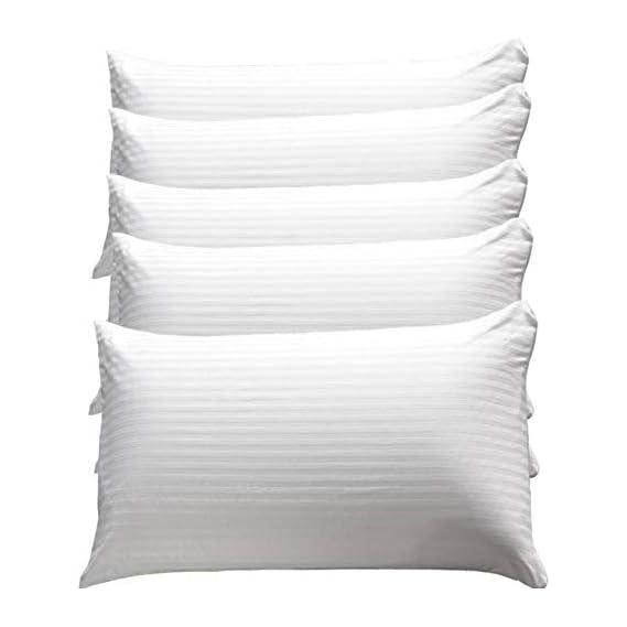 Aditya Home Decor Cotton Bed Pillow (17 x 27 , White) - Set of 5 Pillows