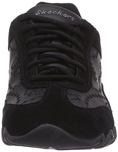 Skechers Speedsters, Low-Top Sneaker donna Nero (Nero (Blk))
