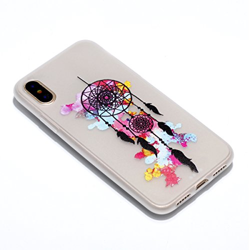 Für iphone X,Sunrive Schutzhülle Etui mit Nachtleuchtende Funktion Hülle TPU Silikon Rückschale Silicon Cover Tasche Case Bumper Abdeckung Handyhülle(Love Heart )+Gratis Universal Eingabestift net 1