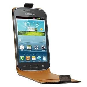 Swiss Charger SCP10127 Etui en cuir pour Samsung Galaxy Trend S7560 Noir