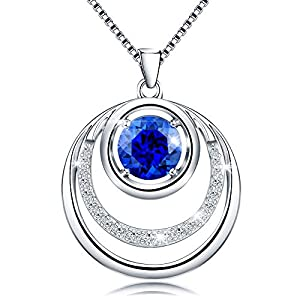 Jewlpire ♥SUPREME Series♥ Woman Silver Necklace Cubic Zirconia Diamond Necklace Pendant for Mum - The Closest Gift to the Heart (Heart of the Sea)
